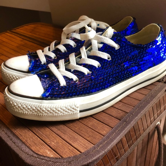 Converse Shoes | Royal Blue Sequin
